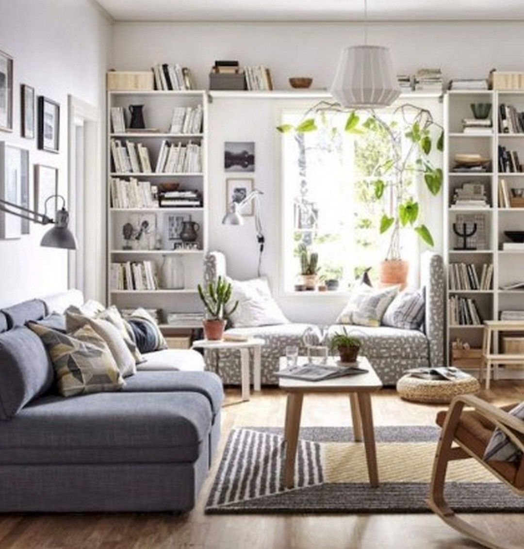 8 Small Living Room Designs And Decorating Ideas To Maximize Your Home Decortheraphy Com Ikea Bookshelves In Library Rooms