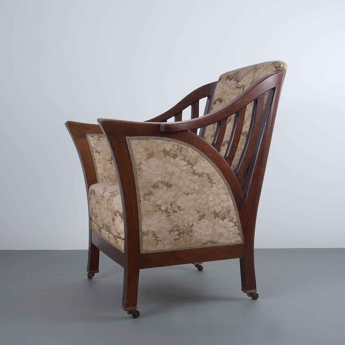 39 havana 39 easy chair henry van de velde google doodles for Sofa jugendstil