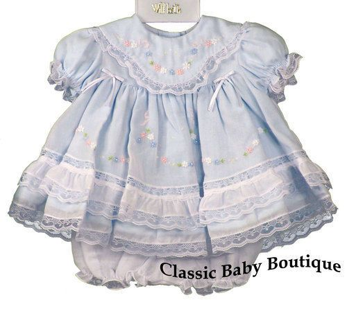 479aa6b1e NWT Will'beth Blue Heirloom Lace 2pc Dress Newborn Bloomers Baby Girls  Boutique #Willbeth #DressyPageantWedding