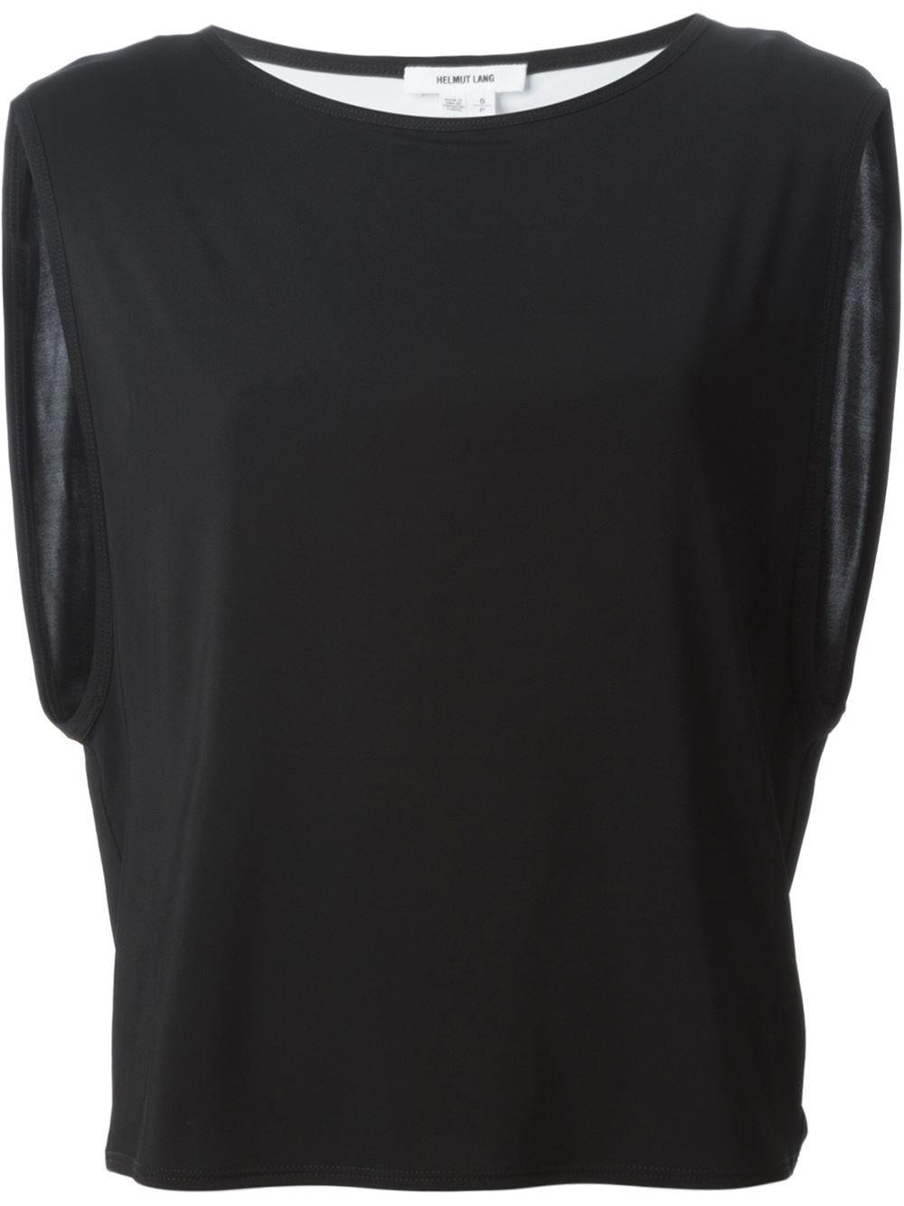 #helmutlang #tops #boxy #black #tshirts #womens #fashion www.jofre.eu