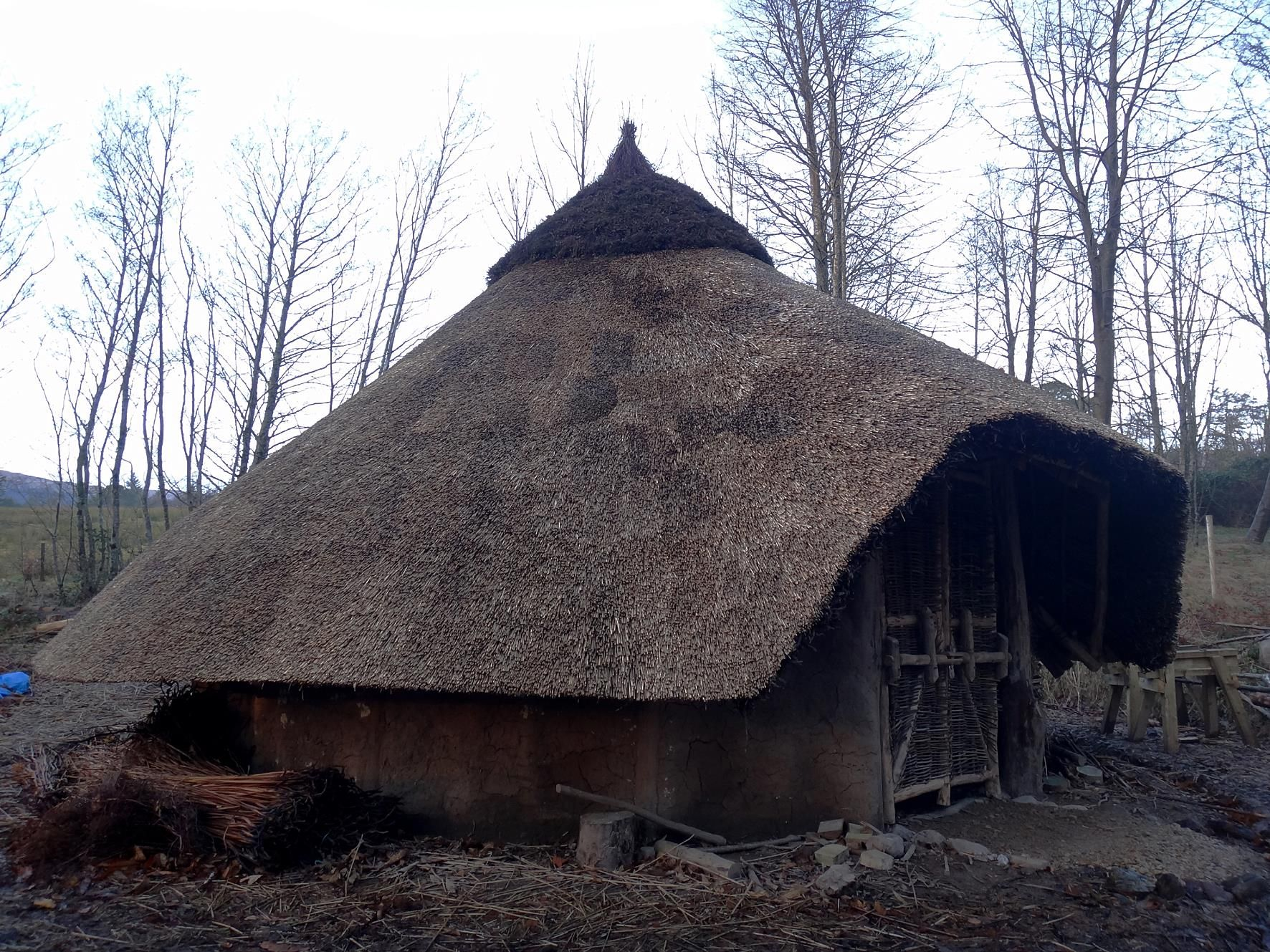 The Bronze Age roundhouse at Brodick Castle on Arran