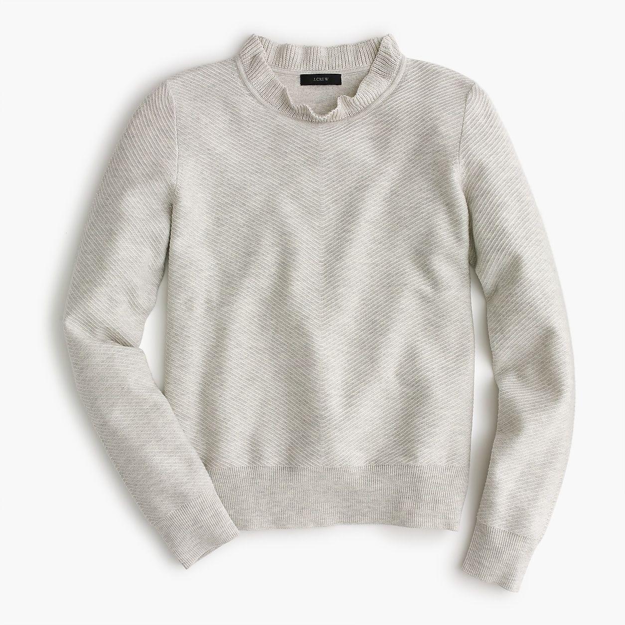 Ruffle-Neck Pullover Sweater  1f174f2cb