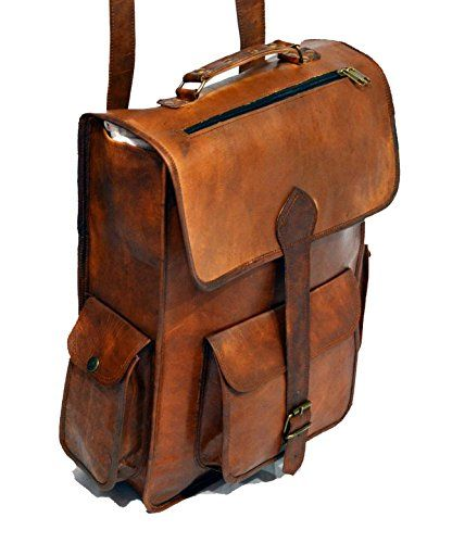 *ECOCRAFTWORLD* ; Leather Handmade Vintage Style 2 in 1 Backpack/College Bag / messenger bag ANNUCREATIONS http://www.amazon.com/dp/B00TNCCT9Q/ref=cm_sw_r_pi_dp_bjzMvb1MPPBTN