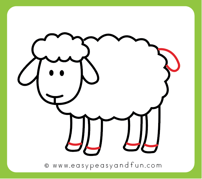 How To Draw A Sheep Step By Step Sheep Drawing Tutorial Sheep Drawing Bunny Coloring Pages Drawings