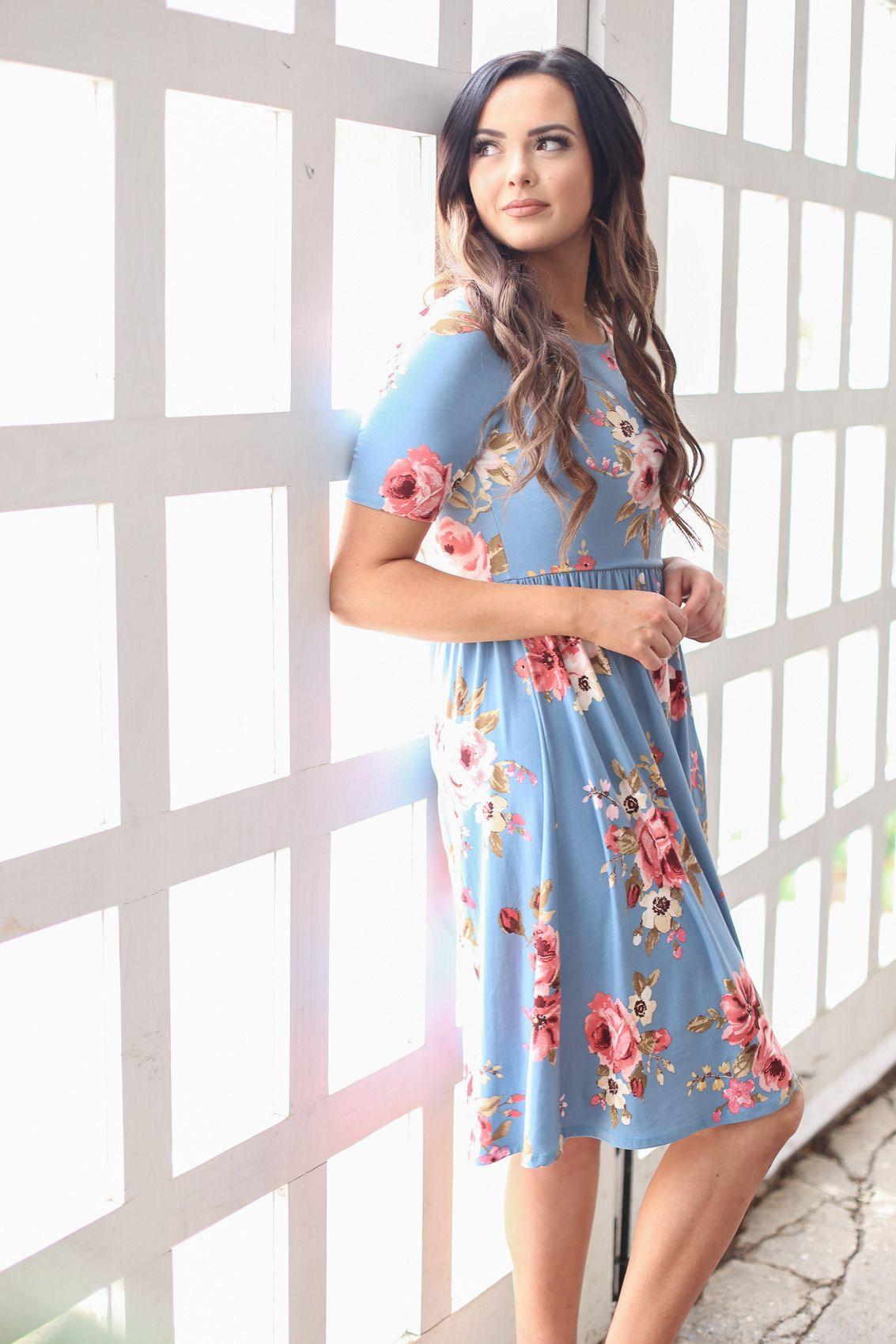 Casual Comfy Cute This Dress Is Available In A Variety Of Fun Florals Gorgeous Solid Modest Dresses For Teens Modest Summer Dresses Modest Spring Dresses [ 1700 x 1133 Pixel ]