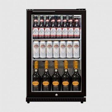 Husky C1 Black 112 Ltr Single Door Back Bar Bottle Cooler Back