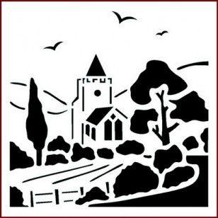 Billy ch/èvre pochoir animaux de ferme d/écore de maison art artisanat peinture Ideal Stencils Ltd XS//11x14cm