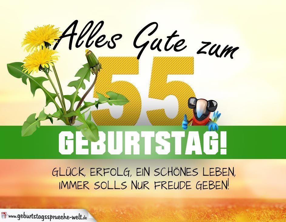 55 Geburtstag Geburtstagskarte Alles Gute Mit Schonem Spruch