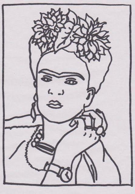 Frida Kahlo | colorear | Pinterest | Embroidery art, Embroidery ...