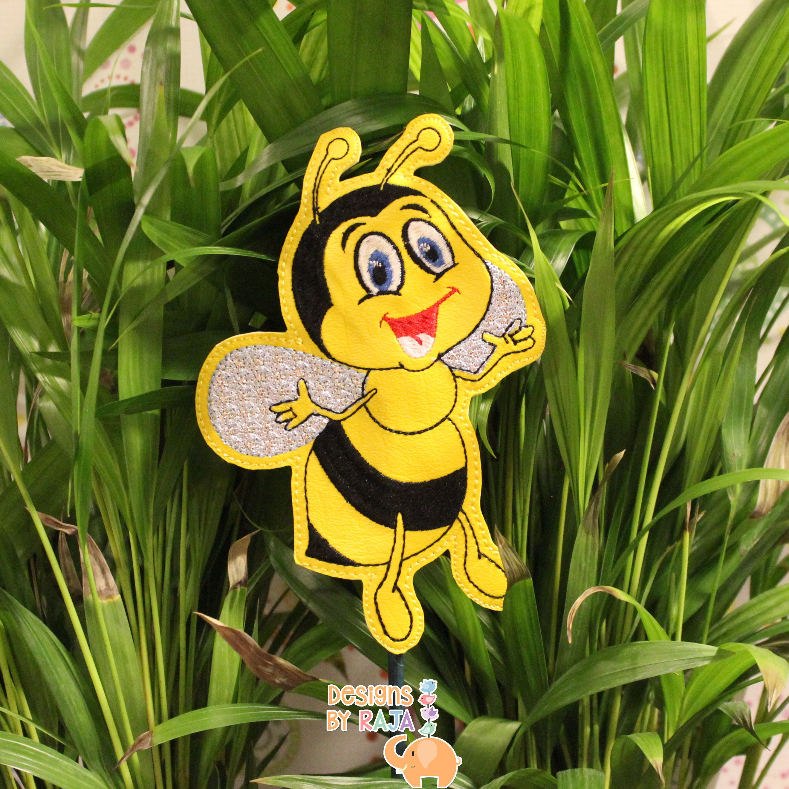 Bee Garden Stake Decor Plant Gift Markers