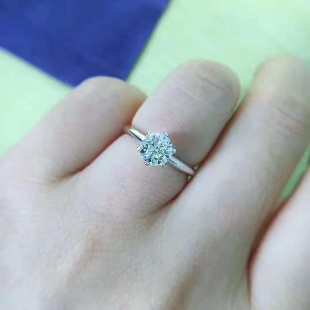 1 Carat Round Shape Forever Brilliant Moissanite Rings In Malaysia Forever Brilliant Moissanite Ring White Gold Engagement Rings Gold Engagement Rings