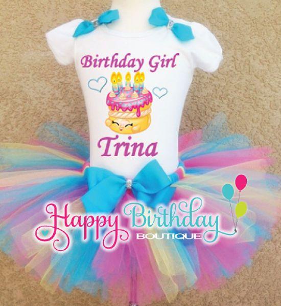 Shopkins Best Wishes Cake Heat Pressed Tropical Tutu Set | Candy Land Dress Ideas | Pinterest ...