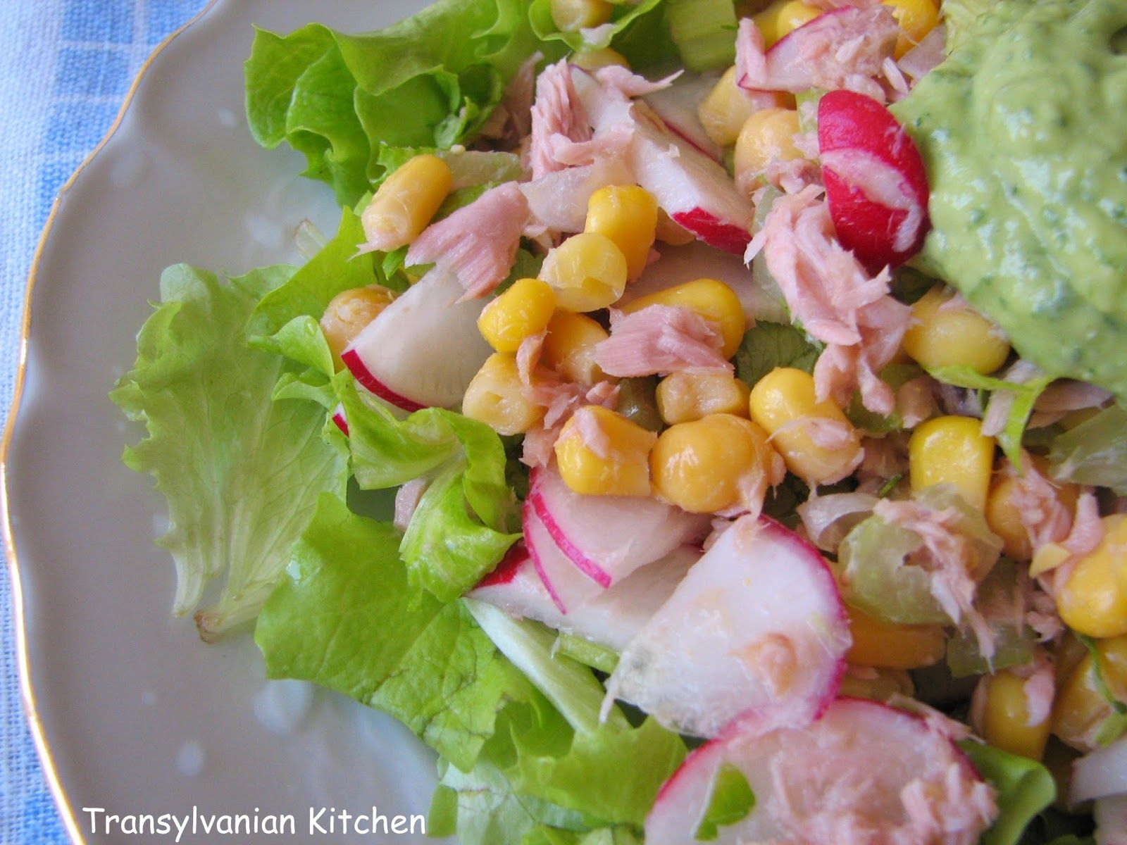 Tuna Salad w/ avocado dressing by Transylvanian Kitchen