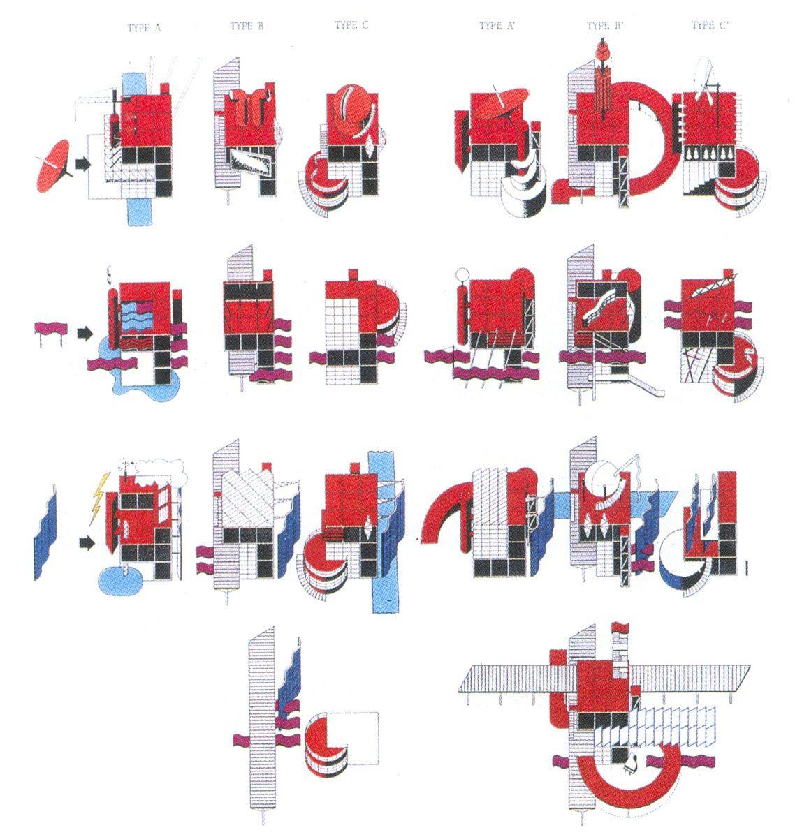 Oma Parc De La Villette Diagram 2005 Honda Accord Lx Radio Wiring Bernard Tschumi Architects Folie Matrix