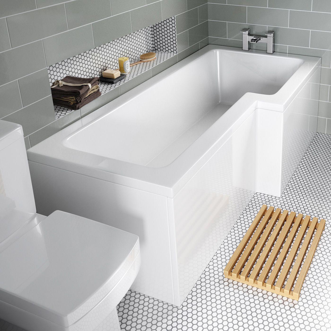 1700x850mm Right Hand L-Shaped Bath | Bathroom | Pinterest | Bath ...