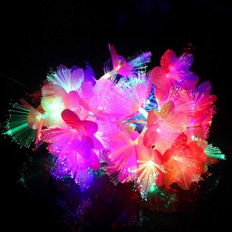 Fairy 10m 100 Led Fiber Optic String Lights Christmas Lights