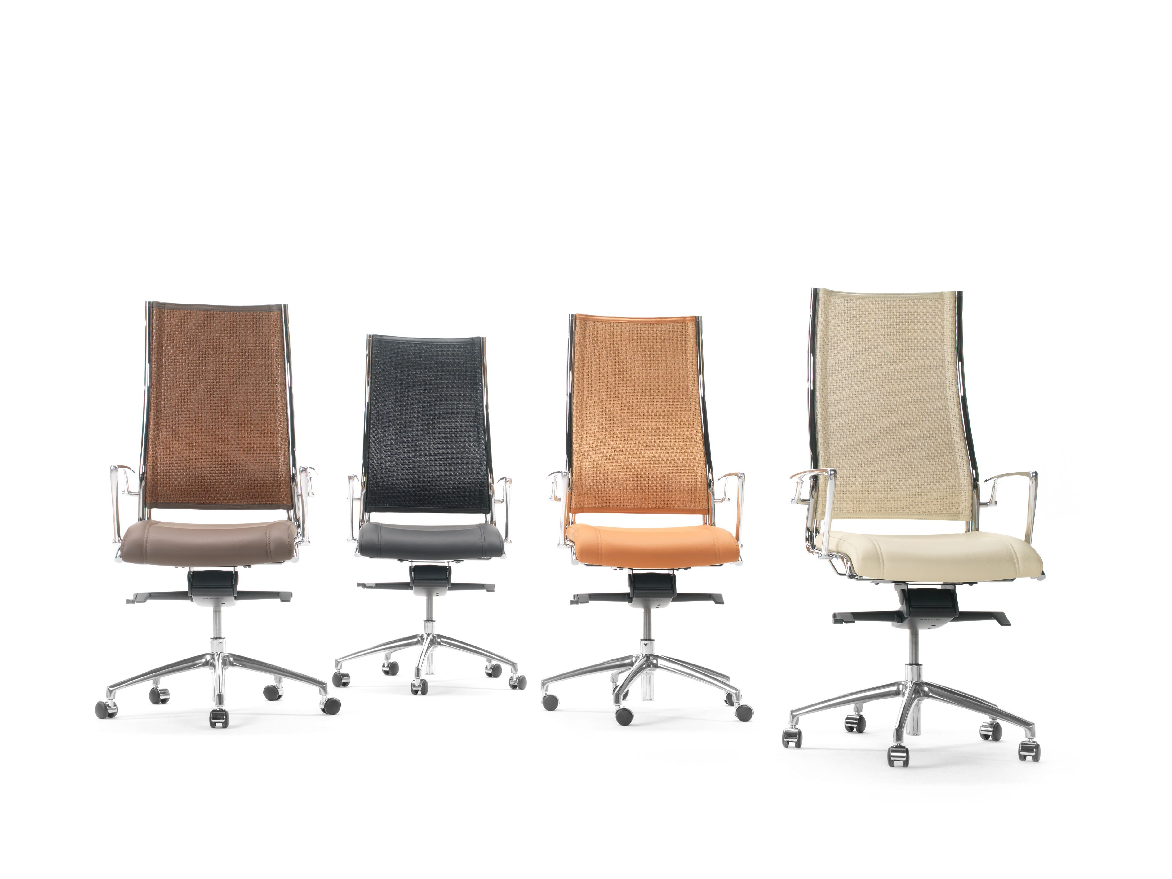 Havana high back executive mesh or rattan back chairs in a