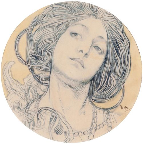 """poeticlines: """" Alfons Maria Mucha (Alphonse Mucha) Art Nouveau Illustration Late 19th- to early 20th cen. """""""