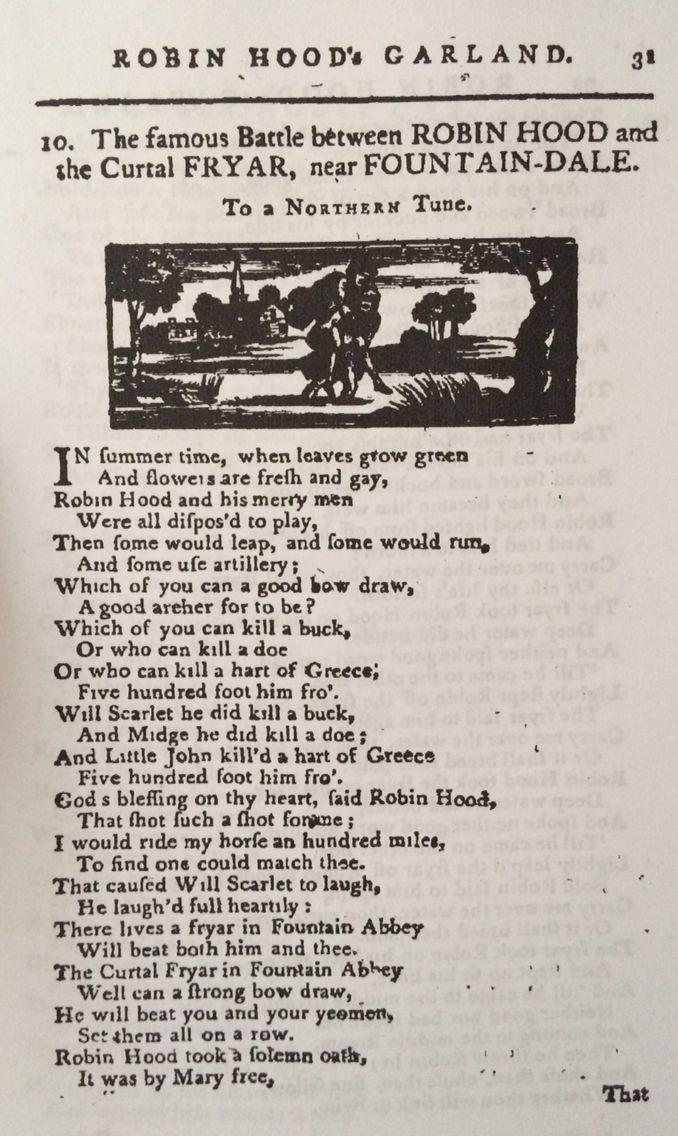 Robin Hood's Garland (1790)