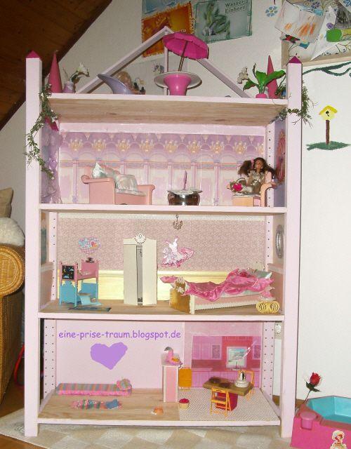 eine prise traum kids barbie haus selbstgemacht diy pinterest. Black Bedroom Furniture Sets. Home Design Ideas