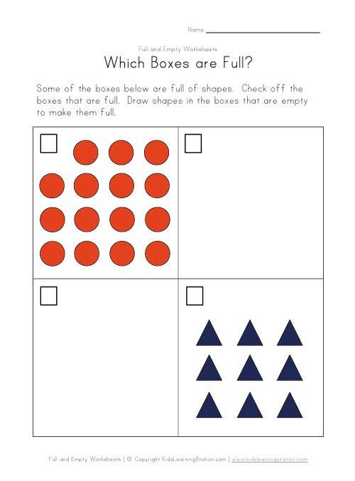 full or empty worksheet | school resources | Pinterest ...