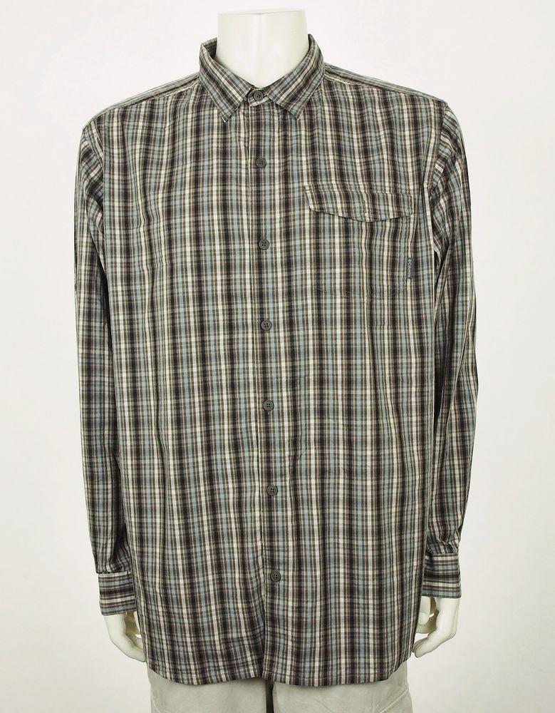 34d0cd170d0 Columbia Vented Fishing Hiking Safari Brown Button Shirt Mens Sz XL  #fashion #clothing #