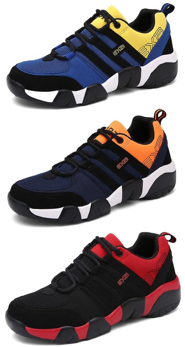 Hommes Maille Chaussures De Course Léger Respirant En Tissu Lacent Chaussures De Sport 9bVtL