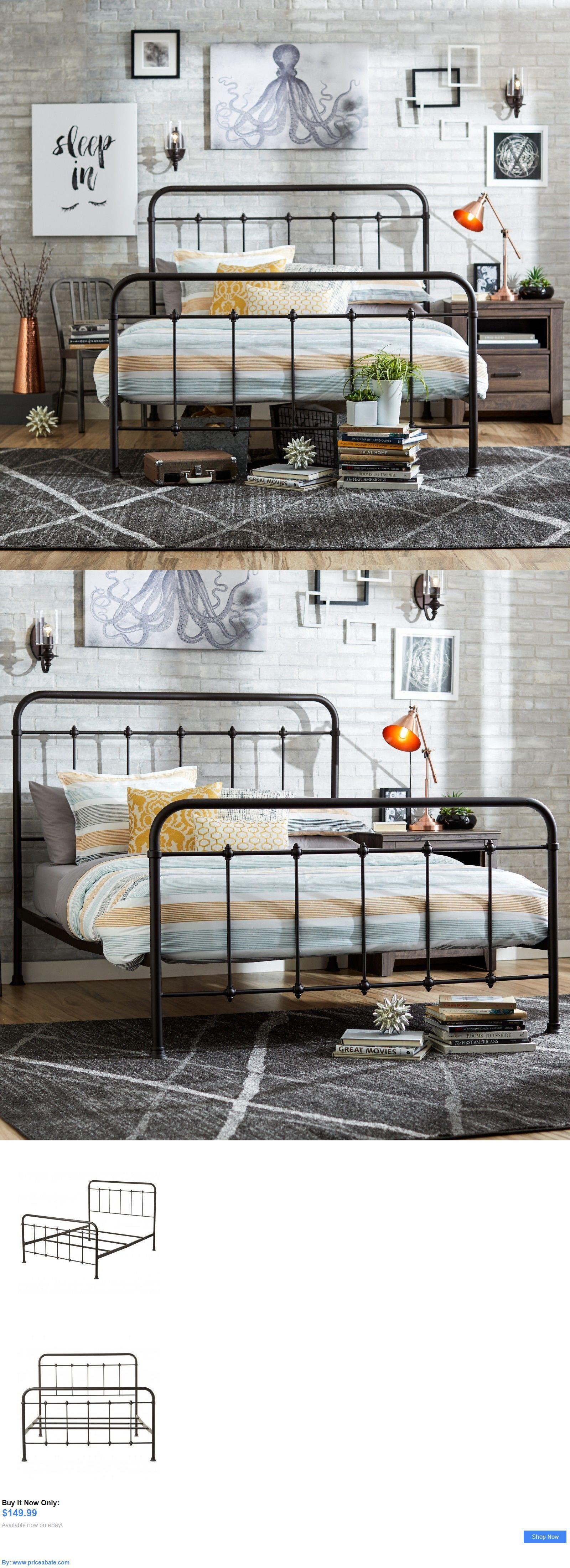 bedding queen size bed frame metal headboard footboard adjustable height antique rustic buy it now