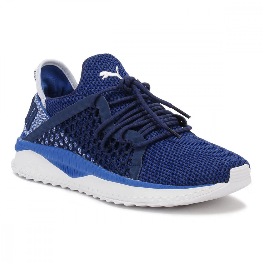 Puma Mens Blue Tsugi Netfit Trainers Running Shoes For Men Puma Mens Sneakers Blue
