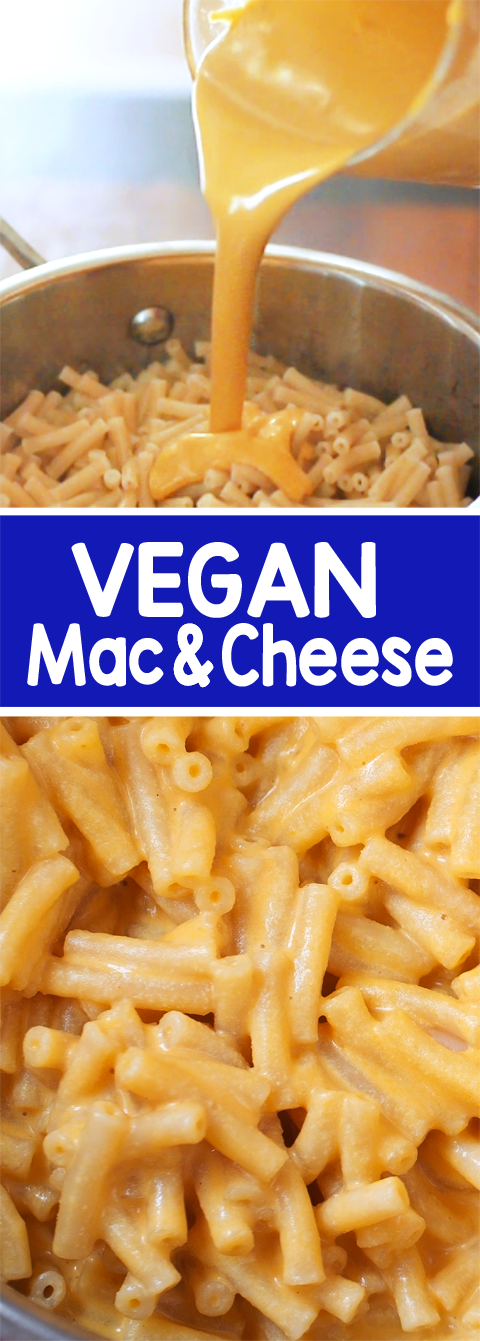 Vegan Mac And Cheese Adapted From Creamy Red Pepper Alfredo Total Time 5m Yield 3 Servings Print This Recipe With Images Vegan Mac And Cheese Vegan Main Dishes Recipes
