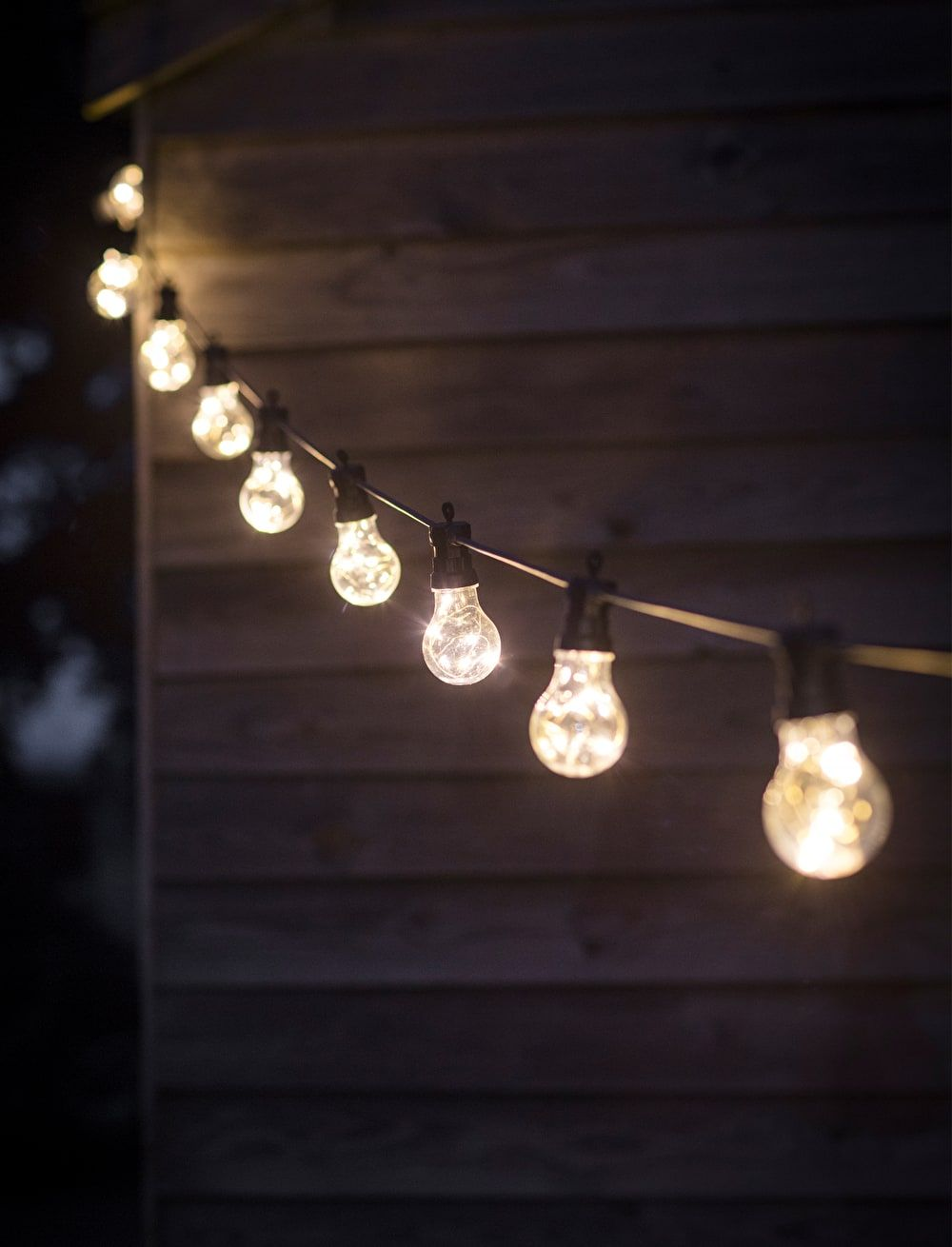 black festoon classic lights outdoor bulbs diy lighting solar garden decking