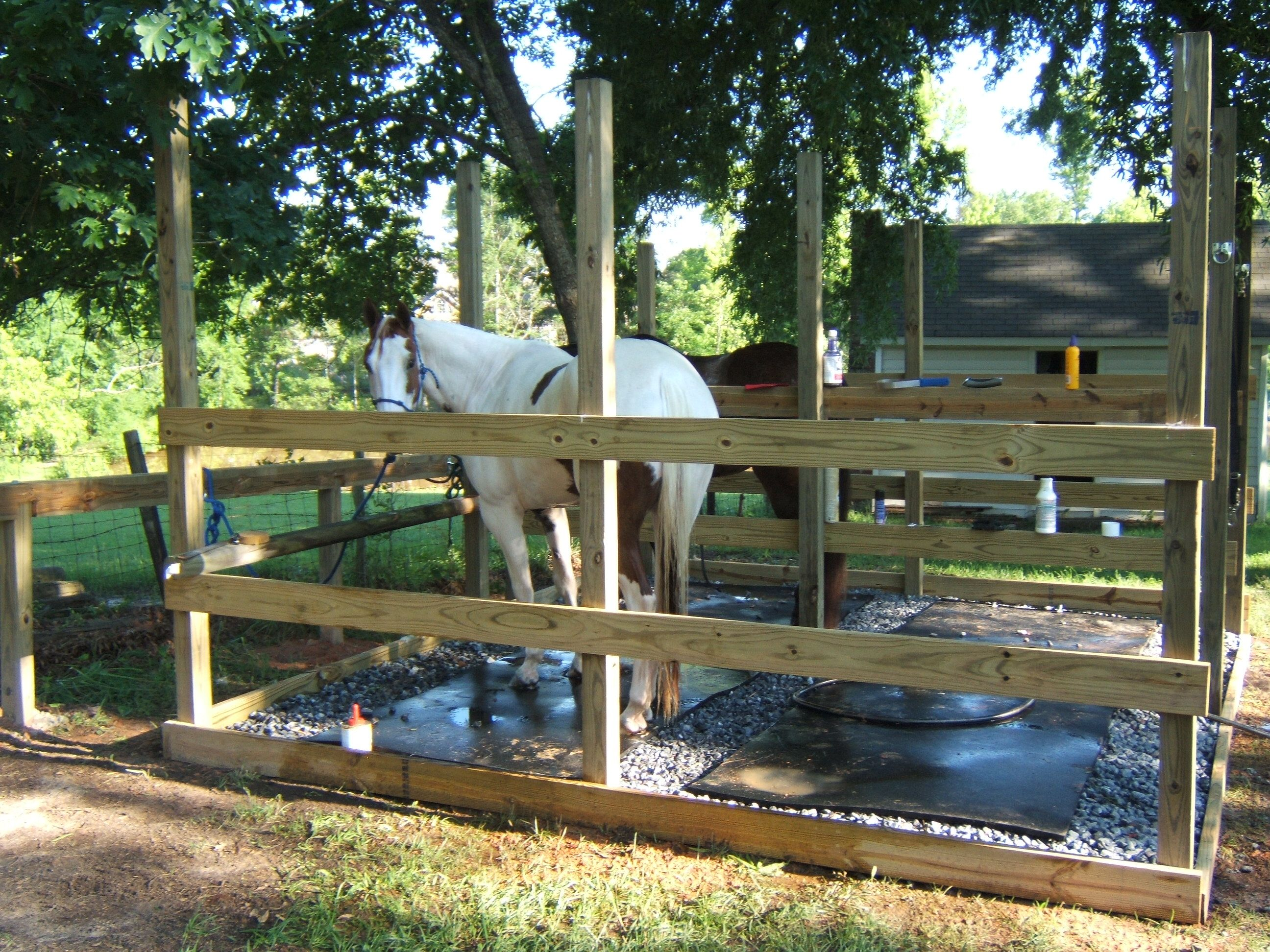 How do you clean out horse bedding in stalls/runs?