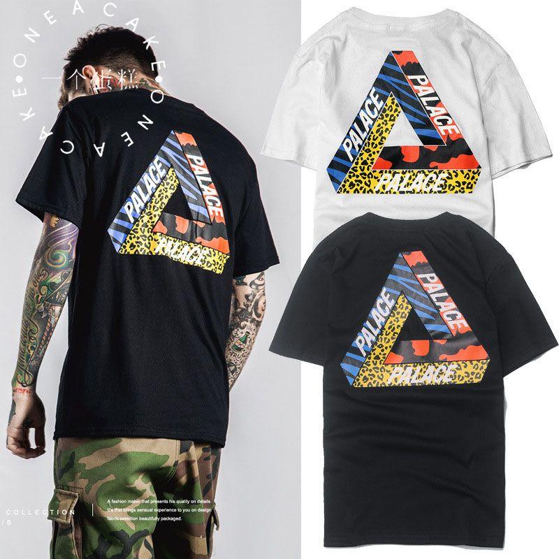 6211fd878f40 ONE A CAKE 2017 New Palace T shirt Men High Quality Palace Skateboards T- Shirts
