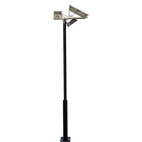 Solar Pole Lighting Part - 28: This Solar Powered LED Floodlight Comes With A Or Pole And Is Ideal For  Area Lighting, Parking Lots And Such Like.