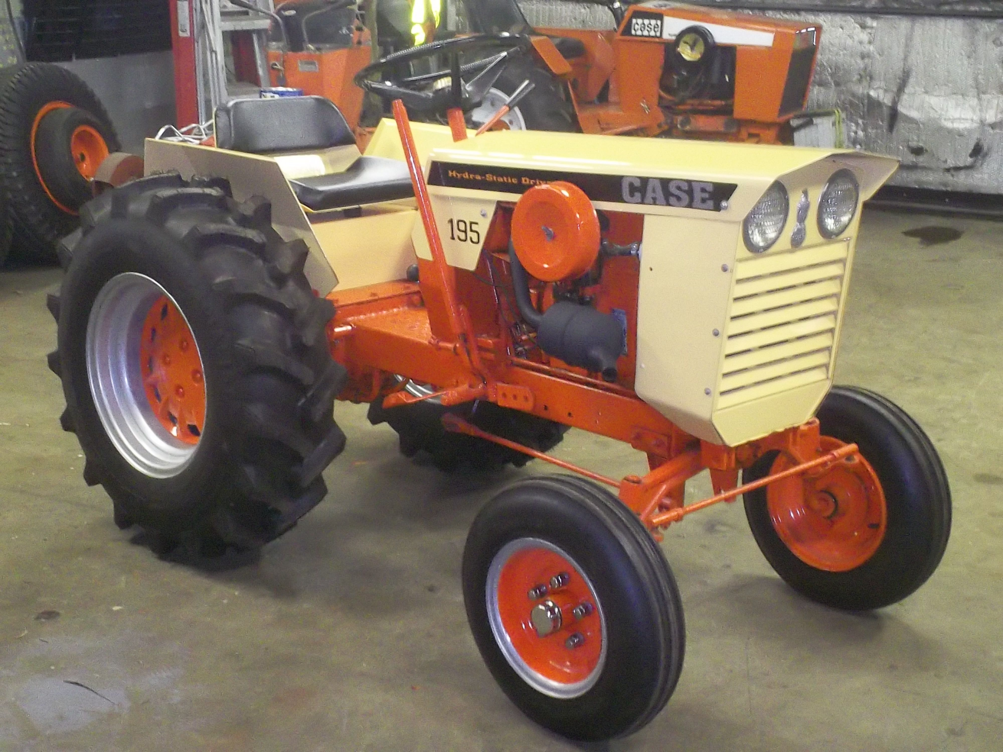 Custom restored case 195 hydra static drive garden tractor for Garden equipment for sale