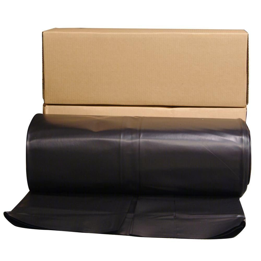 Husky 24 Ft X 100 Ft Black 6 Mil Plastic Sheeting Blacks Black Plastic Sheeting Plastic Sheets Plastic
