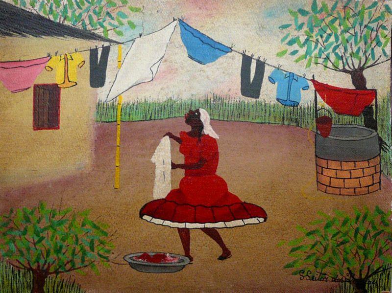 Washerwoman Oil On Canvas Heitor Dos Prazeres Heitor Dos