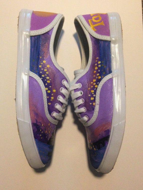 14f624e338e1a Hand Painted Tangled Shoes Custom Lantern by NataliesCustomShoes ...