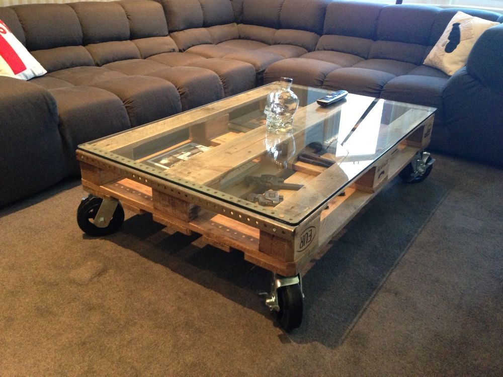 Pallet Table Glass Only Build Your Own Coffee Table