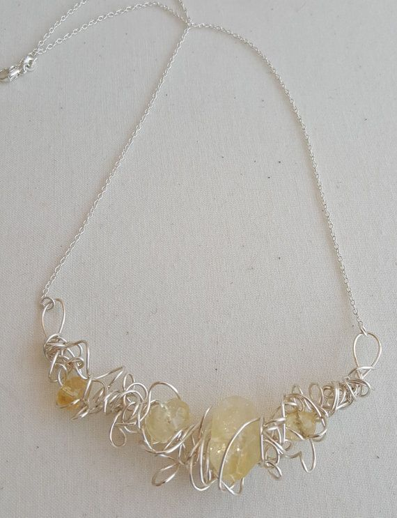 Chaos Silver Wire Wrapped Citrine Bib Style by LavenderOwlDesigns ...