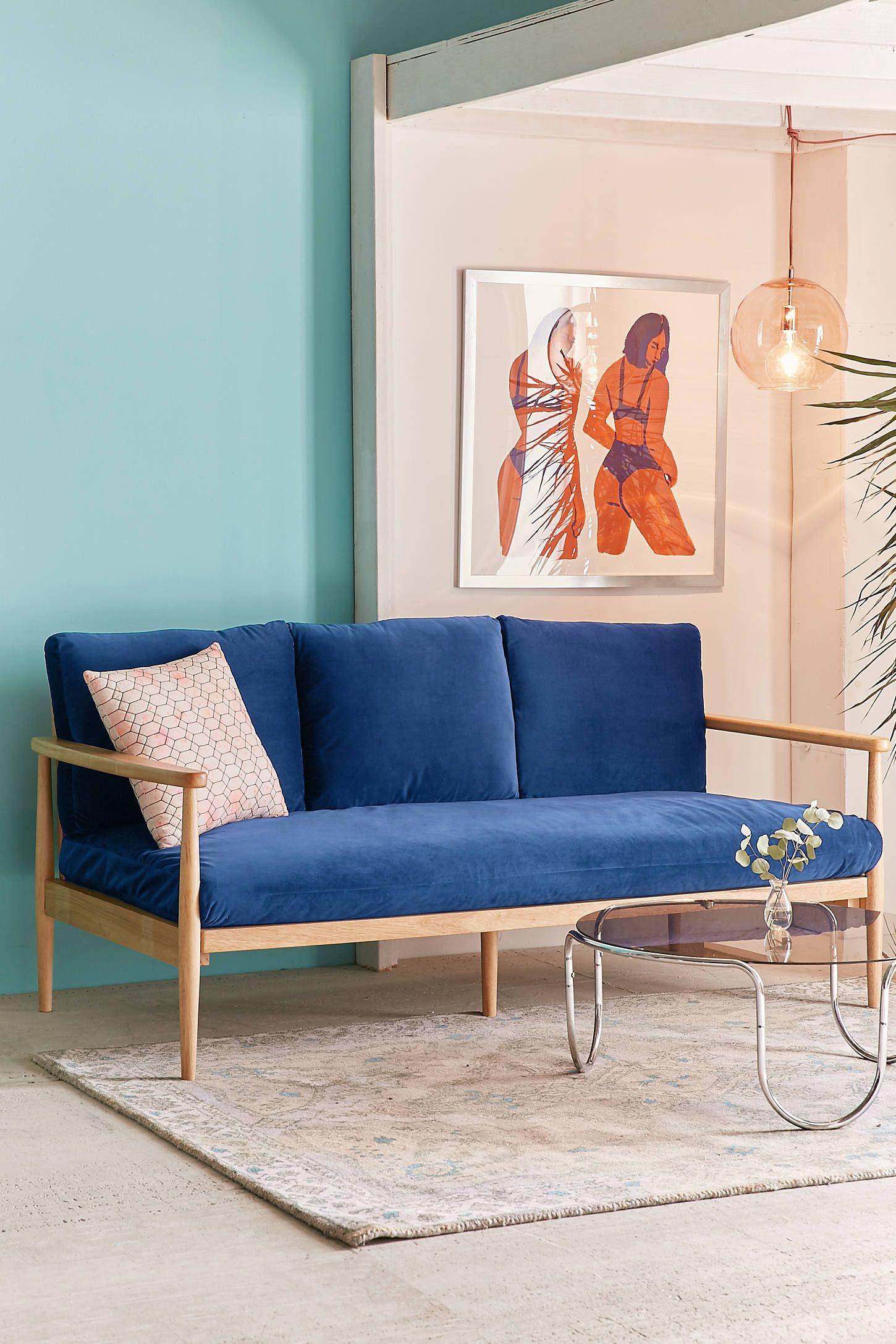 Minna Velvet Sofa Urban Outers