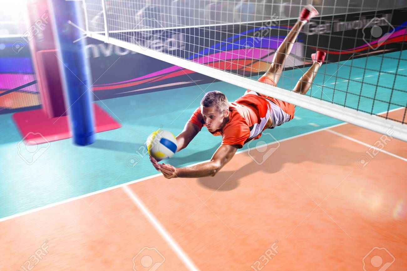 Professional Volleyball Player Flying In Action On The Grand Arena Ad Player With Images Professional Volleyball Professional Volleyball Players Volleyball Players