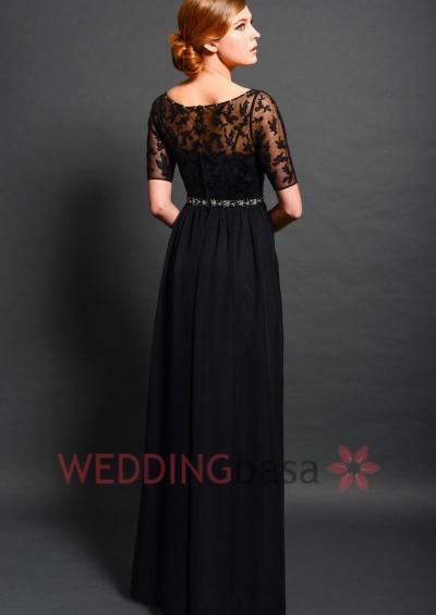long black bridesmaid dresses with sleeves 2016-2017 » B2B Fashion