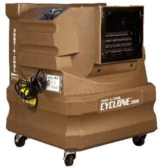 The Port A Cool Paccyc02a Cyclone 2000 Portable Evaporative Cooler Features 10 Gallon