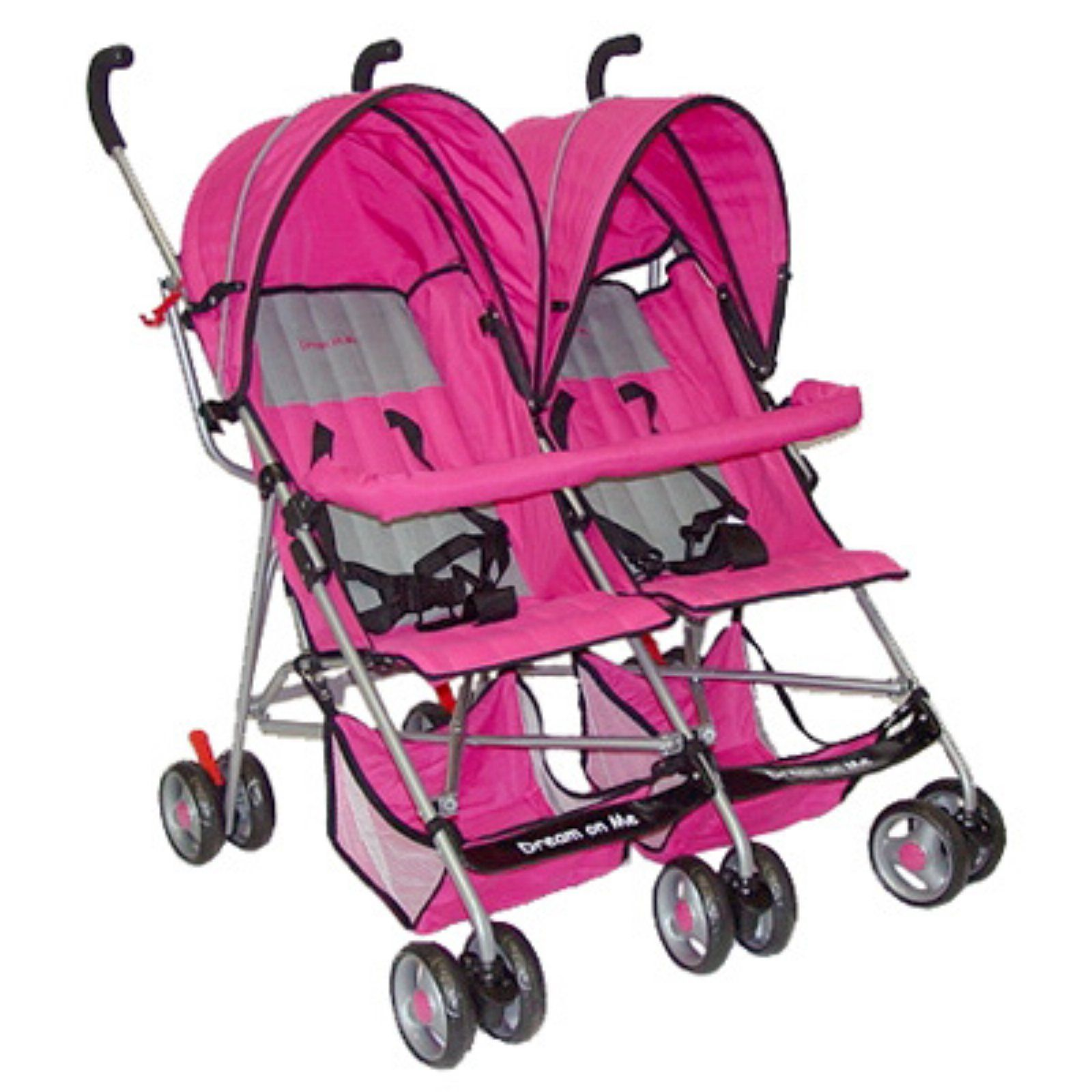 Dream On Me Twin Stroller Pink Baby strollers, Twin
