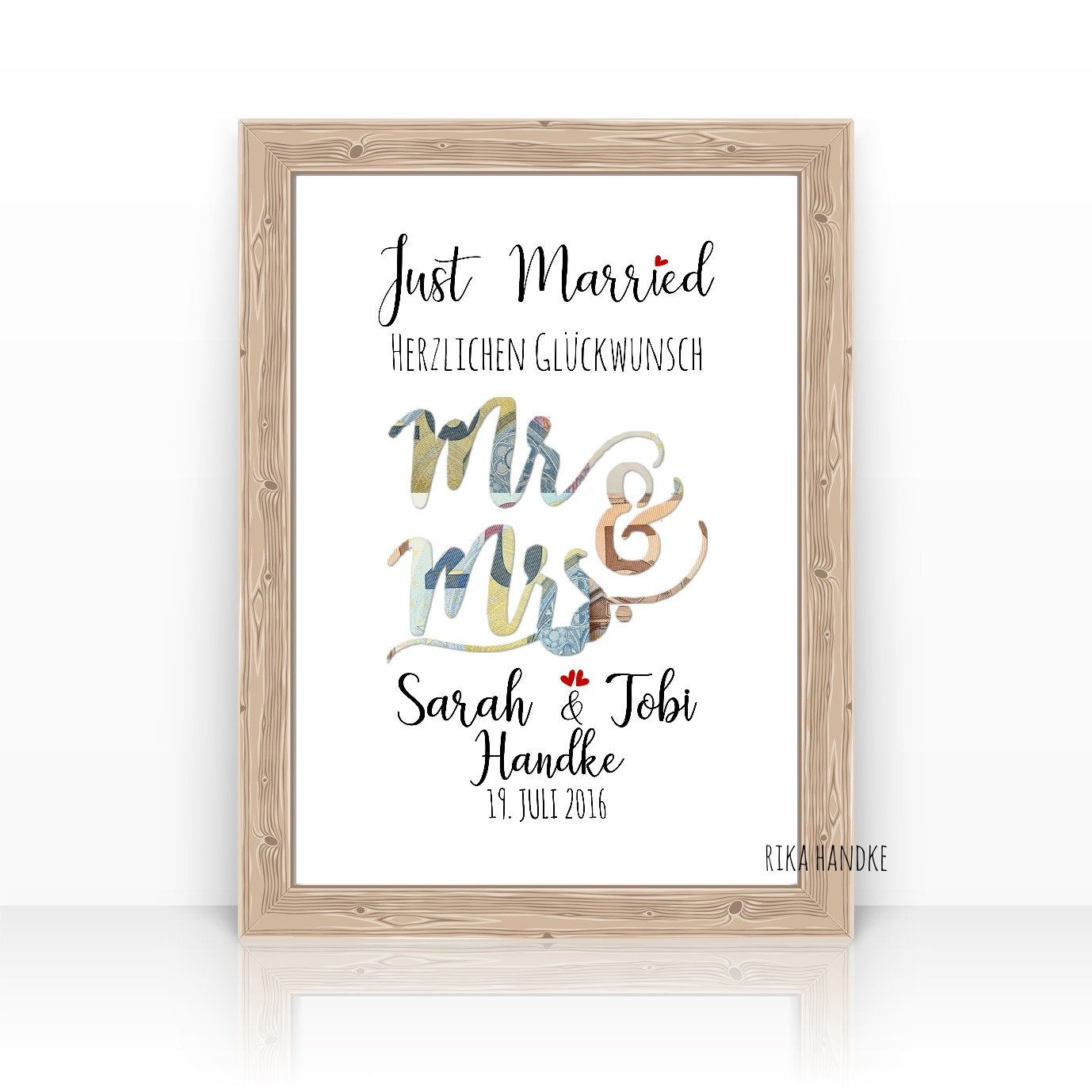 Wedding Gift - Money Gift Wedding - Wedding Gift - Mr. Mrs. - Just Married - A4