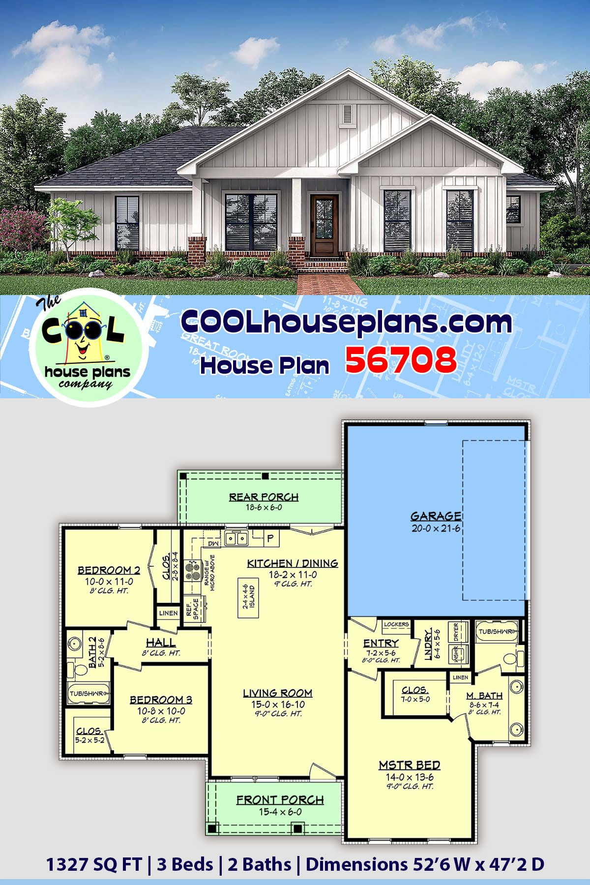 Traditional Style House Plan 56708 With 3 Bed 2 Bath 2 Car Garage Small Country Homes Building Plans House Country House Plans