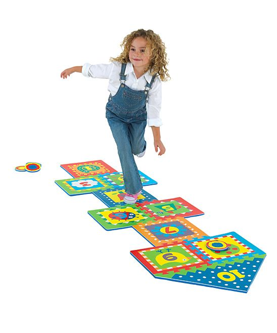 Hopscotch Puzzle Mat Set Puzzle mat, Hopscotch kids