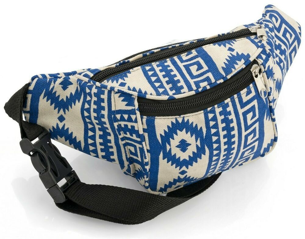 Tribal Print Bum Bag Fanny Pack Waist Money Belt Festival Holiday Bag Luggage & Travel Accessories