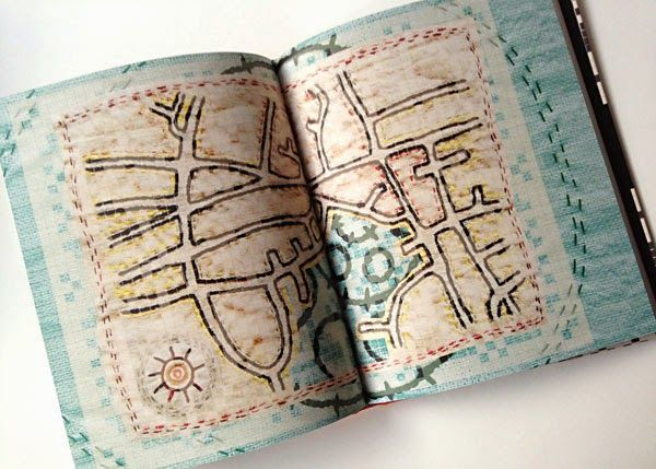 Book illustrated with embroidery, by Helle Vibeke Jensen #embroidery